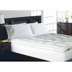 Elle 1200 Thread Count Cotton-Rich Solid Mattress Pad - White (Queen)