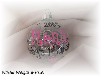 Babys 1st Christmas Ornament Pink