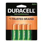 Duracell Rechargeable NiMH AA 1.4 volt Rechargeable Battery DCNLAA4BCD 4 pk