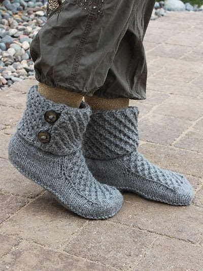 Knit Slippers Pattern With Soles