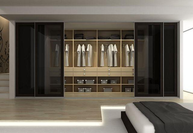 Dormitorio muebles modernos armarios sin puerta - Cortinas para armarios sin puertas ...