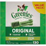 Greenies Original Teenie Dental Dog Treats, 36 oz., Count of 130