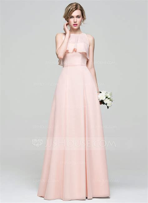 A Line/Princess Sweetheart Floor Length Chiffon Bridesmaid