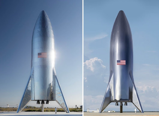 Elon Musk says SpaceX has assembled Starship test rocket with shiny, retro look