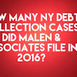 NY Debt Collection Law Firm Malen & Associates, PC Filed 5,403 Debt Collection Cases In 2016
