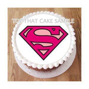 Supergirl Pink Super Hero Round Edible 7 5 inch Cake