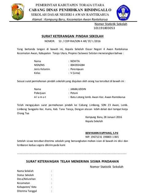 Contoh Surat Keterangan Pindah Dari Kepala Desa Kumpulan Contoh Surat