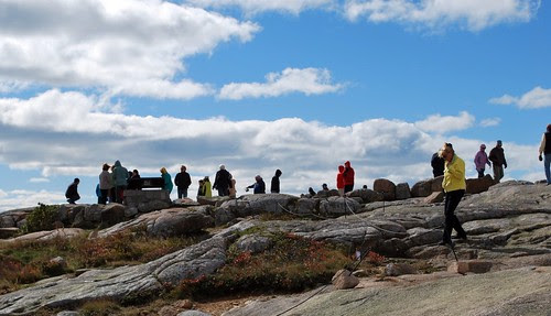 Lots of people on Cadillac Mountain summit