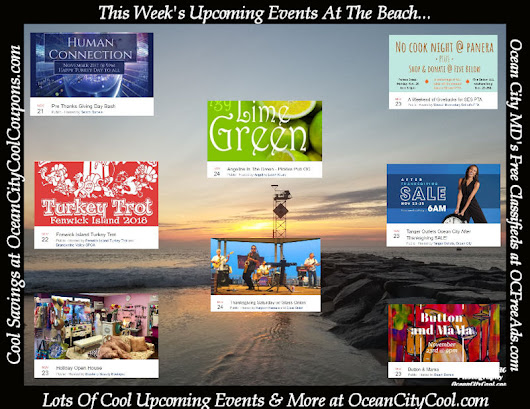 This Week's Upcoming Events Around The Beach...