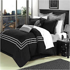 Chic Home Cosmo 8-Pc. Comforter Set, King, Black