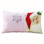 (Santa Claus) - Clearance!! Christmas Pillow Case,Rectangle Cotton Linter Pillow Cases (Santa Claus)