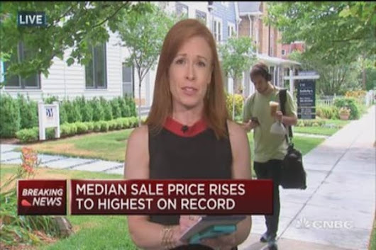 Median sale price rises to highest on record