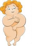 74416-Royalty-Free-RF-Clipart-Illustration-Of-A-Pleasantly-Plump-Woman-Covering-Her-Nude-Body