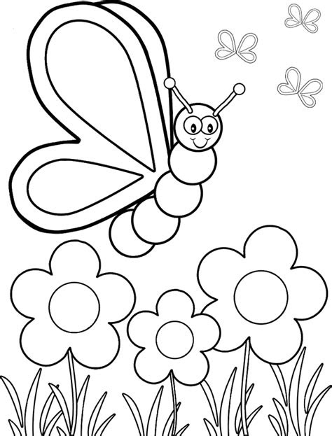 Coloring Pages Flower Pdf Creative Art