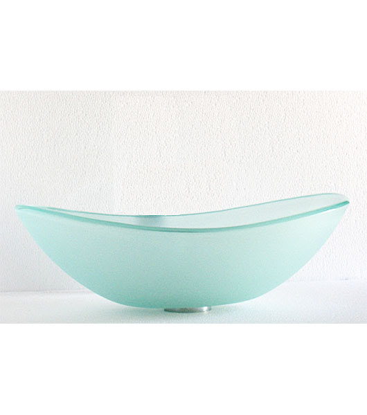 Frosted Doubled Tempered Glass Vessel Sink Bowl C C1003
