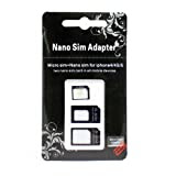 Nano SIM MicroSIM 変換アダプタ 3点セット For iPhone 5 4S 4 ナノシム→SIMカードorMicroSIM MicroSIM→SIMカード