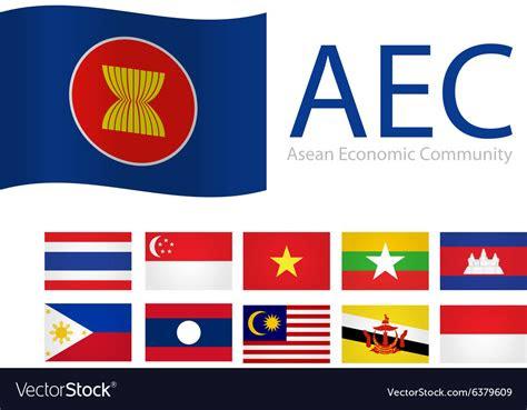 flag aec asean royalty  vector image vectorstock