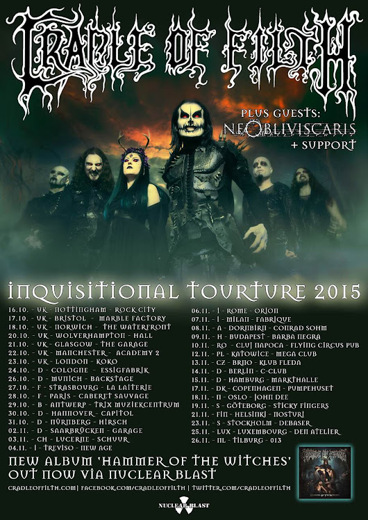 Competition Winners Announced To Support Us On Our U.K. & E.U. Tour! | Cradle of Filth Official Website - New Album: Hammer of The Witches
