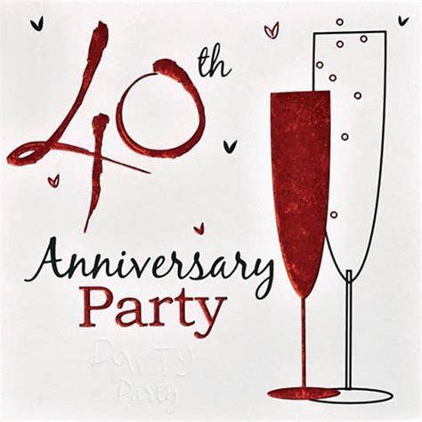 10 Great 40th Wedding Anniversary Gift Ideas