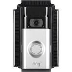 Wasserstein Weatherproof Solar Charger Mount for Ring Video Doorbell 2 (Black)