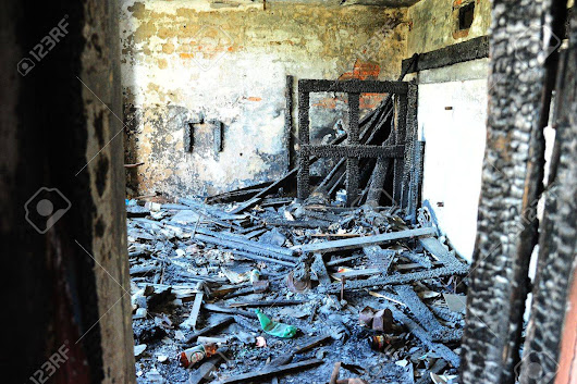 Image: Room Of The Burned Down House Stock Photo, Picture And Royalty ...