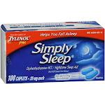Simply Sleep Caplets 100 Caplets by Pharmapacks