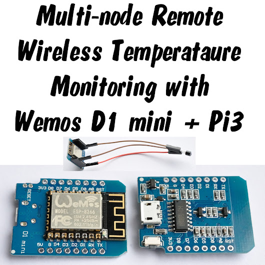 Wireless Remote Sensing with Wemos D1 mini, Arduino IDE, Raspberry Pi and lighttpd web server