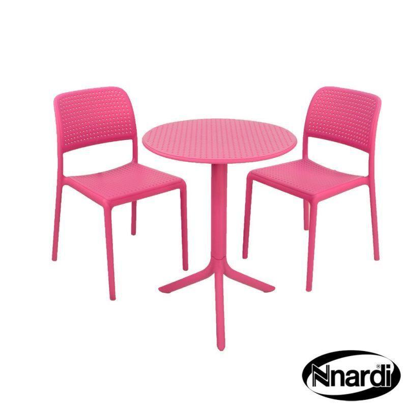 Pink Step Garden Bistro Set & 2 Pink Bistro Chairs - Buy ...