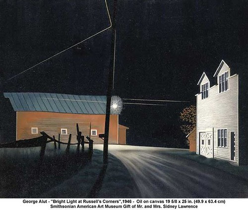"George Alut - ""Bright Light at Russell's Corners"", 1946 by artimageslibrary"