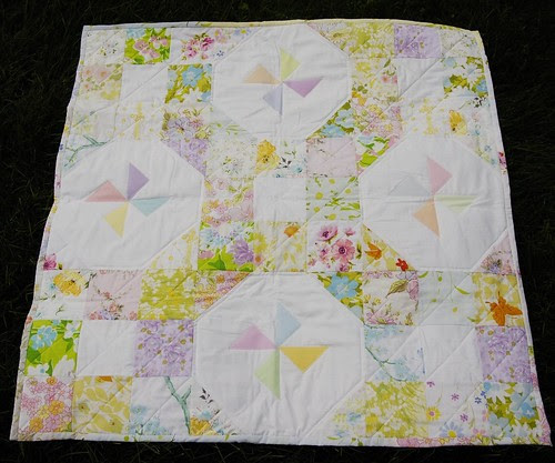 Vintage Sheet Baby Quilt