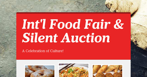 Int'l Food Fair & Silent Auction