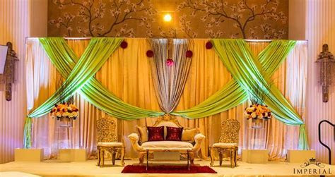Imperial Decorations   Indian Wedding Stage BackDrop