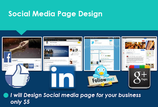 create 5 social media page for your site - fiverr
