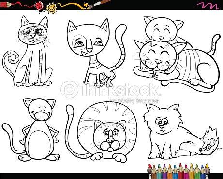 Page De Coloriage Avec Des Animaux De Compagnie Clipart Vectoriel