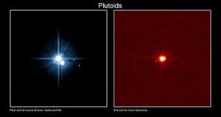 Fotos de Plutón y Eris, con sus lunas