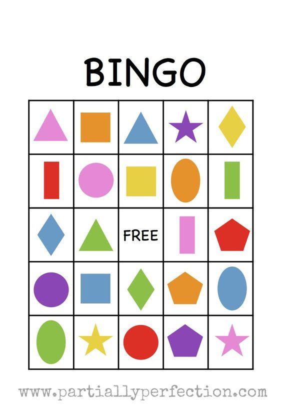 Shape Bingo Card - FREE PRINTABLE - I
