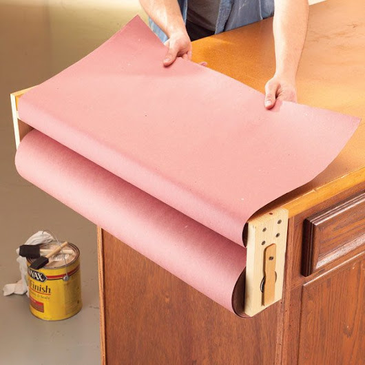 Rosin Paper Workbench Cover | The Family Handyman