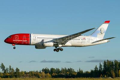Norwegian Air Shuttle (Norwegian.com) (Norwegian Long Haul) Boeing 787-8 Dreamliner EI-LNB (msn 35305) (Thor Heyerdahl) ARN (Stefan Sjogren). Image: 913826.