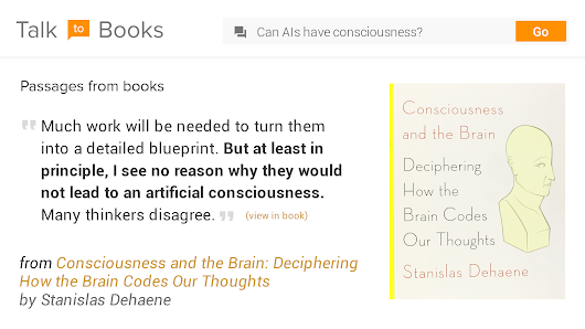 Google announces new 'Talk to Books' semantic-search feature | Kurzweil
