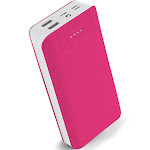 Aduro PowerUp Trio 20,000 mAh SmartCharge Dual USB Backup Battery Pink