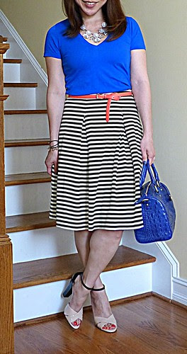 pleated stripes