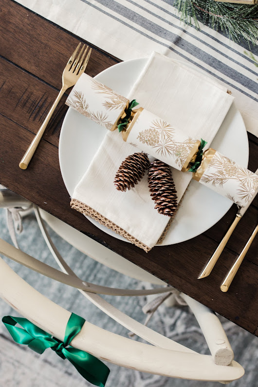 Forest Inspired Holiday Table - A Thoughtful Place