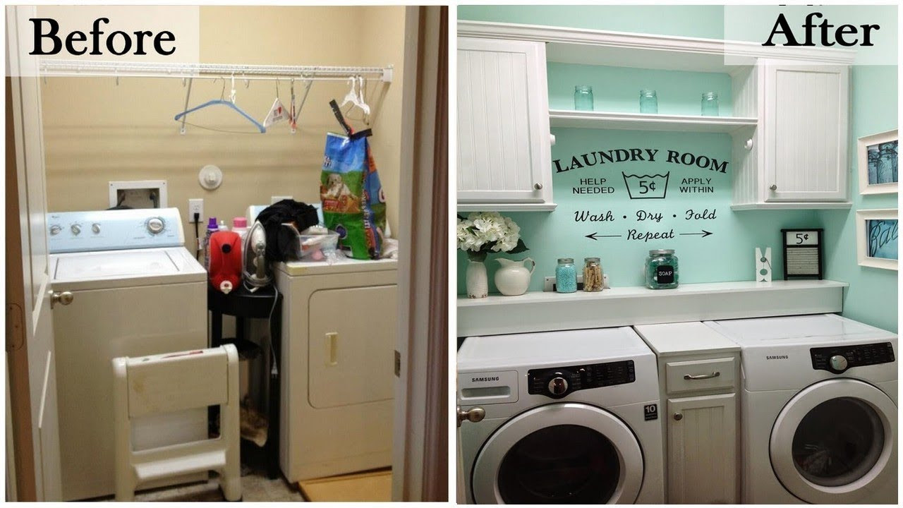 Small Laundry Room Ideas - Space Saving Ideas for Tiny Laundry