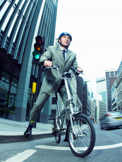 Bike commuting. Click image to expand.