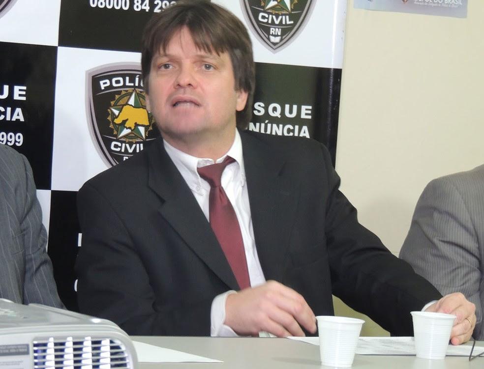 Correia Júnior foi anunciado como novo titular da Delegacia Geral de Polícia Civil (Foto: Felipe Gibson/G1)