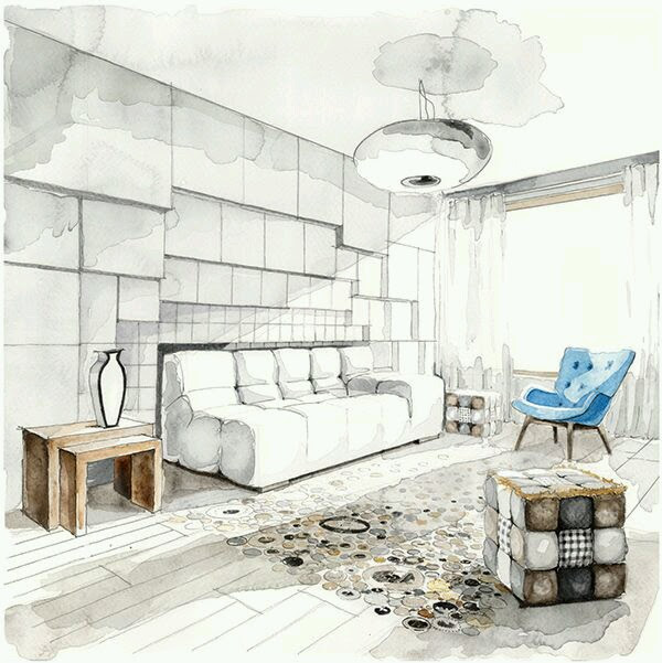 Living Room Design Drawing Arch Student Com