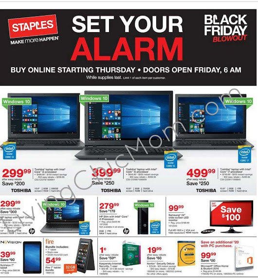 Staples Black Friday Ad Scan and Store Details - Living Chic Mom