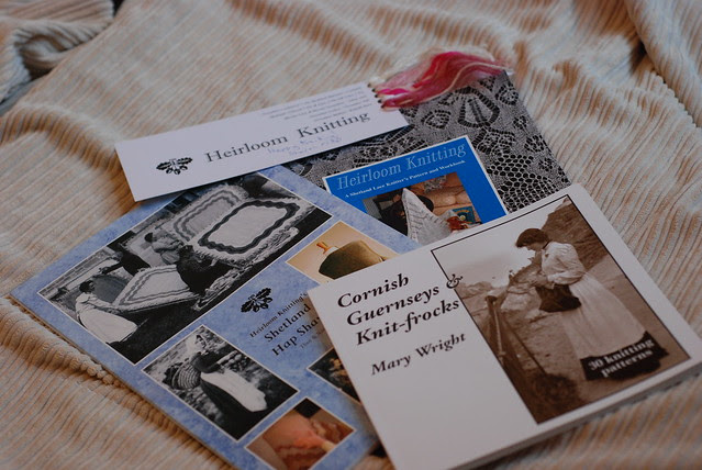 Heriloom Knitting Sharon Miller Hap Shawls Cornish Guernseys historical traditional British knitting books