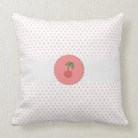 Cherry Polka Dot Pillow