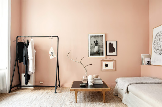 Salmon walls - COCO LAPINE DESIGN